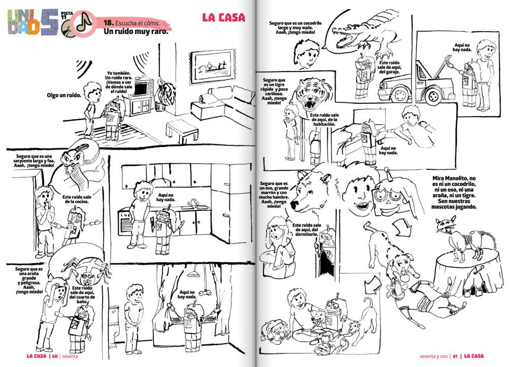 Podręcznik do nauki hiszpańskiego Colorín Colorado - przykładowa strona